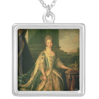 Portrait of Sophie Charlotte Silver Plated Necklace
