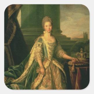 Portrait of Sophie Charlotte Square Sticker