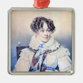 Portrait of Sophie Rostopchine Metal Ornament