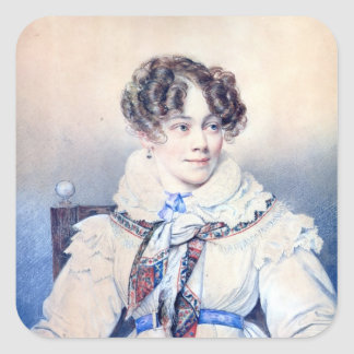 Portrait of Sophie Rostopchine Square Sticker