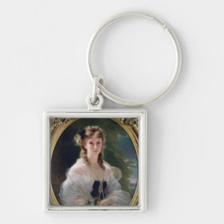 Portrait of Sophie Troubetskoy  Countess of Silver-Colored Square Keychain