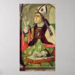 Portrait of St. Augustine, c.1475 Posters