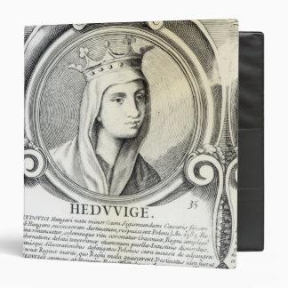 Portrait of St.Jadwiga 3 Ring Binder