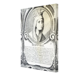 Portrait of St.Jadwiga Canvas Print