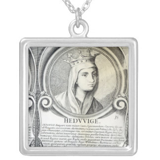 Portrait of St.Jadwiga Silver Plated Necklace