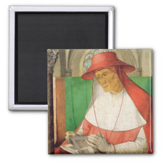 Portrait of St. Jerome  c.1475 2 Inch Square Magnet