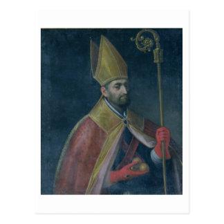 Portrait of St. Nicholas, 1700 (oil on canvas) Postcard