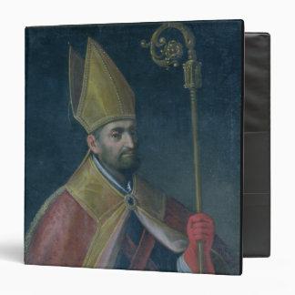 Portrait of St. Nicholas, 1700 (oil on canvas) Vinyl Binder