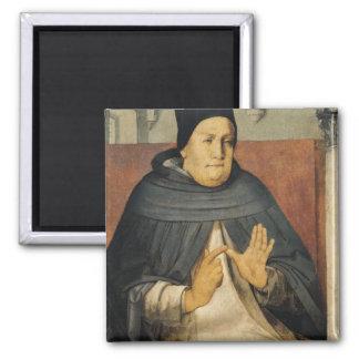 Portrait of St. Thomas Aquinas  c.1475 2 Inch Square Magnet