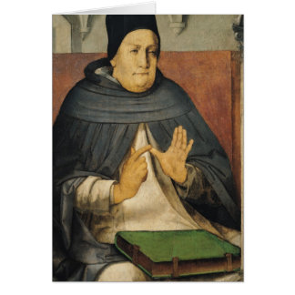 Portrait of St. Thomas Aquinas  c.1475 Card