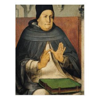 Portrait of St. Thomas Aquinas  c.1475 Postcard