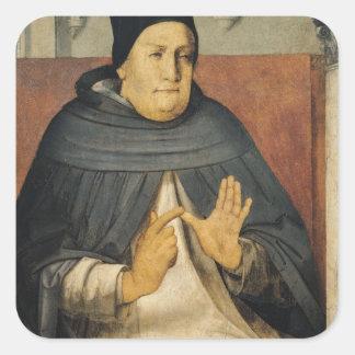 Portrait of St. Thomas Aquinas  c.1475 Square Sticker