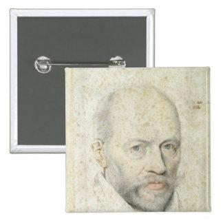 Portrait of St. Vincent de Paul Button