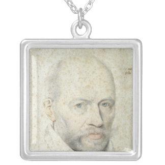 Portrait of St. Vincent de Paul Silver Plated Necklace