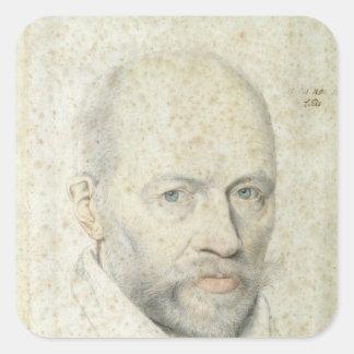 Portrait of St. Vincent de Paul Square Sticker