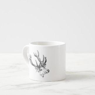 Portrait of Stag Deer Espresso Cup