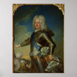 Portrait of Stanislas Lesczinski  King of Poland Poster