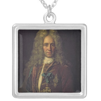 Portrait of State Chancellor Count G. Golovkin Silver Plated Necklace