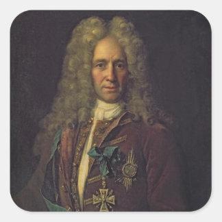 Portrait of State Chancellor Count G. Golovkin Square Sticker