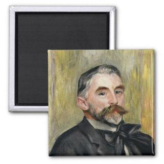 Portrait of Stephane Mallarme  1892 2 Inch Square Magnet