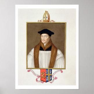 Portrait of Stephen Gardiner (c.1483-1555) Bishop Poster