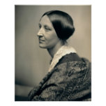 Portrait of Suffragist Susan Brownell Anthony 1850 Print