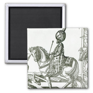Portrait of Suleiman the Magnificent 2 Inch Square Magnet