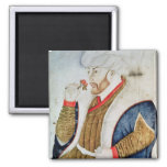Portrait of Sultan Mehmet II Magnets