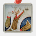 Portrait of Sultan Mehmet II Metal Ornament