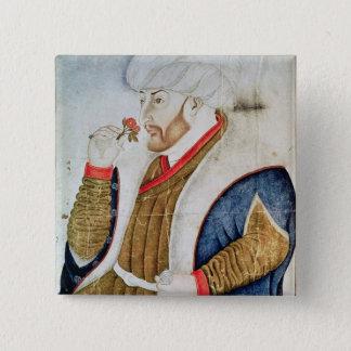 Portrait of Sultan Mehmet II Pinback Button