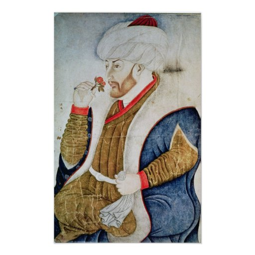 Portrait of Sultan Mehmet II Poster