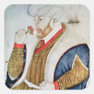 Portrait of Sultan Mehmet II Square Sticker