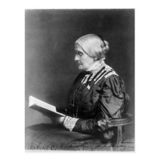 Portrait of Susan B. Anthony Reading a Book Postcard