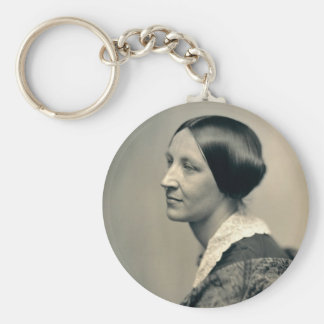 Portrait of Susan Brownell Anthony 1850 Basic Round Button Keychain