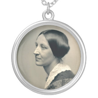 Portrait of Susan Brownell Anthony 1850 Round Pendant Necklace