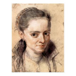Portrait of Susanna Fourment by Paul Rubens Postcards