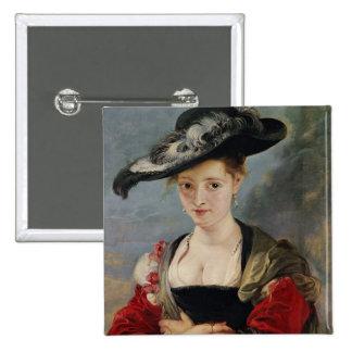 Portrait of Susanna Lunden (?) (Le Chapeau de Pail Button