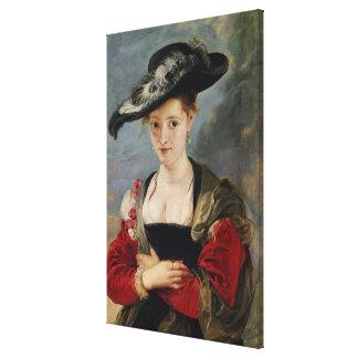 Portrait of Susanna Lunden (?) (Le Chapeau de Pail Canvas Print