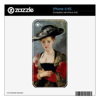 Portrait of Susanna Lunden (?) (Le Chapeau de Pail Decals For The iPhone 4