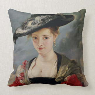 Portrait of Susanna Lunden (?) (Le Chapeau de Pail Throw Pillow