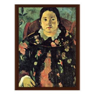 Portrait Of Suzanne Bambridge By Gauguin Paul Postcard