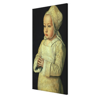 Portrait of Suzanne of Bourbon (1491-1521) daughte Canvas Print