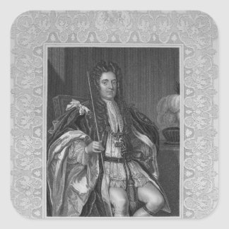 Portrait of Sydney, First Earl of Godolphin Square Sticker