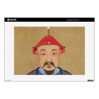 """Portrait of T'ai T'sin Che-Tsou (1638-61) 15"""" Laptop Decal"""