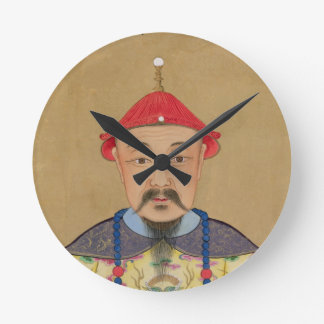 Portrait of T'ai T'sin Che-Tsou (1638-61) Wallclocks