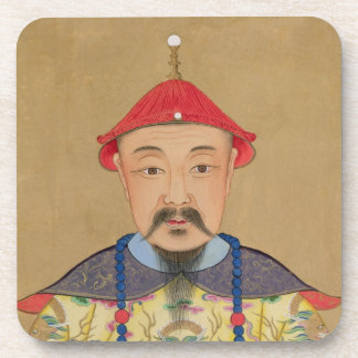 Portrait of T'ai T'sin Che-Tsou (1638-61) Drink Coaster
