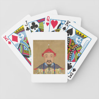 Portrait of T'ai T'sin Che-Tsou (1638-61) Deck Of Cards