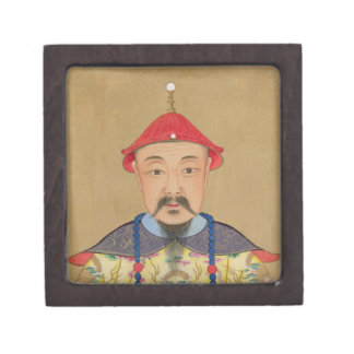 Portrait of T'ai T'sin Che-Tsou (1638-61) Premium Jewelry Box