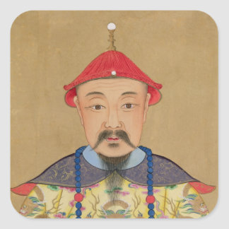 Portrait of T'ai T'sin Che-Tsou (1638-61) Square Sticker