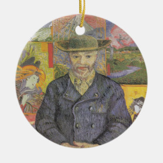 Portrait of tangi pop Double-Sided ceramic round christmas ornament